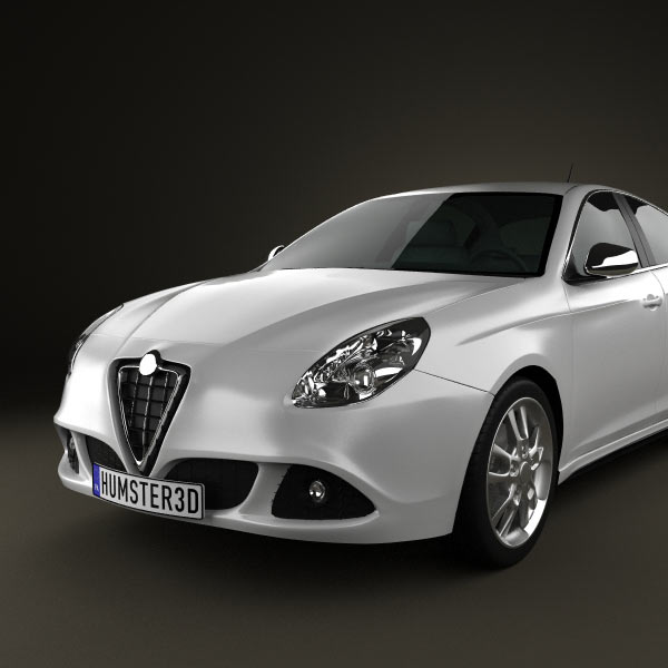 alfa romeo giulietta 2011 3d model for download in various formats. Black Bedroom Furniture Sets. Home Design Ideas