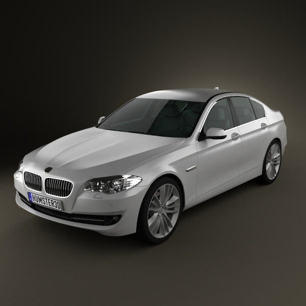 bmw 5 series sedan 2011 3d model for download in various formats. Black Bedroom Furniture Sets. Home Design Ideas