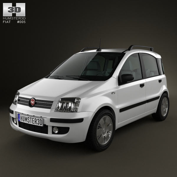 fiat panda 3d model for download in various formats. Black Bedroom Furniture Sets. Home Design Ideas
