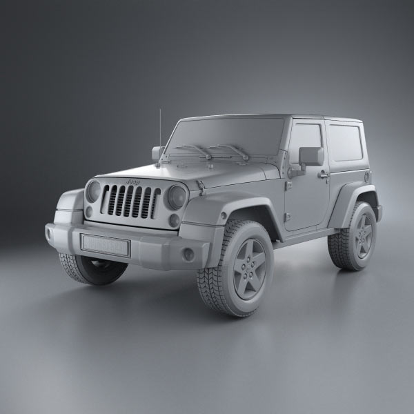 Jeep Wrangler Rubicon Hardtop 2010 3d Model For Download