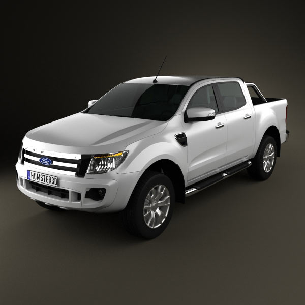 ford ranger t6 2011 3d model for download in various formats. Black Bedroom Furniture Sets. Home Design Ideas