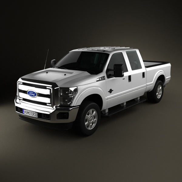 Ford Super Duty Crew Cab 2011 3D Model For Download In