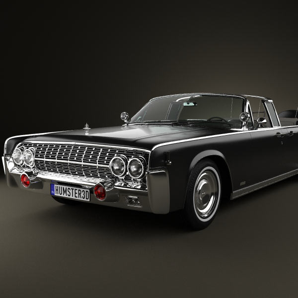 Lincoln Continental X 100 1961 3d Model For Download In