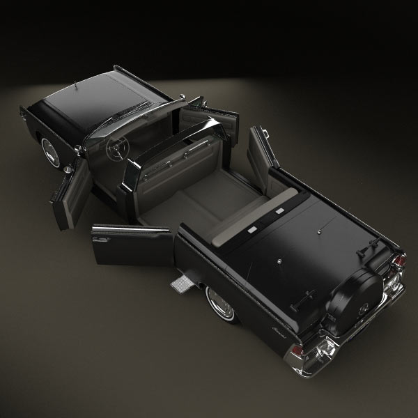 Lincoln Continental X-100 1961 3D model for Download in ...
