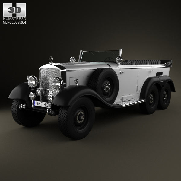 Mercedes benz g4 offroader 1939 3d model for download in for Mercedes benz g4
