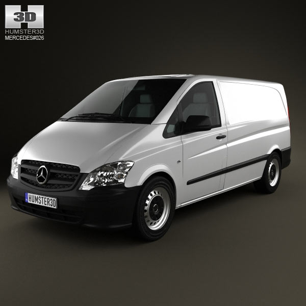 mercedes benz vito w639 panelvan long 2011 3d model for download in various formats. Black Bedroom Furniture Sets. Home Design Ideas