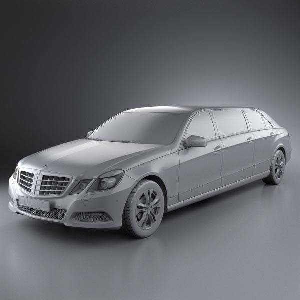 Mercedes Binz E Class Limousine 3d Model For Download In