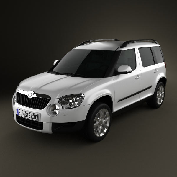 skoda yeti 2010 3d model for download in various formats. Black Bedroom Furniture Sets. Home Design Ideas