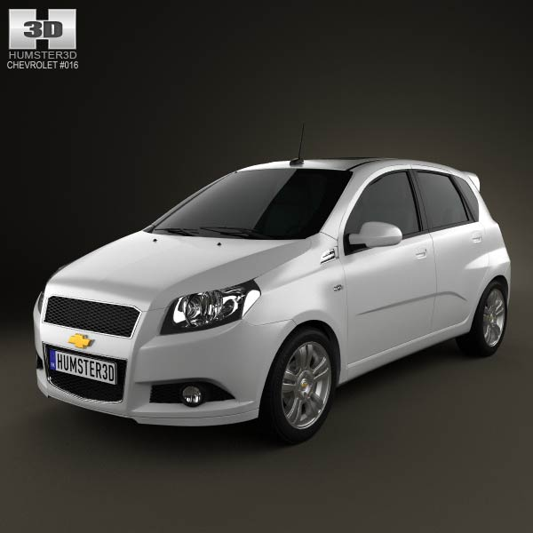chevrolet aveo 5 door 2009 3d model for download in various formats. Black Bedroom Furniture Sets. Home Design Ideas