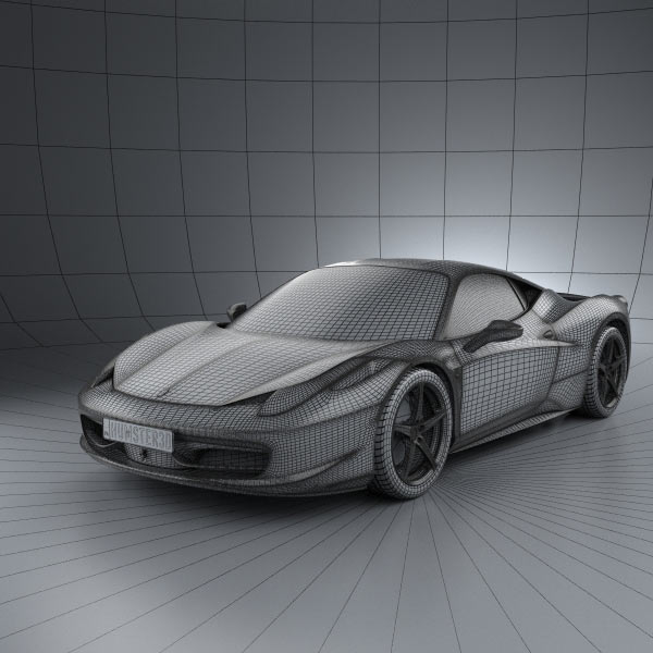 Ferrari F430 Scuderia 2009 3d Model Max Obj 3ds Fbx C4d: Ferrari 458 Italia 3D Model For Download In Various Formats