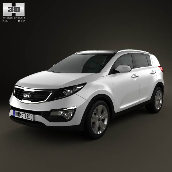 Kia Sportage 2011 3D Model For Download In Various Formats