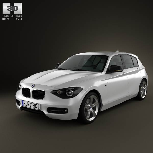 bmw 1 series f20 5 door 2011 3d model for download in various formats. Black Bedroom Furniture Sets. Home Design Ideas