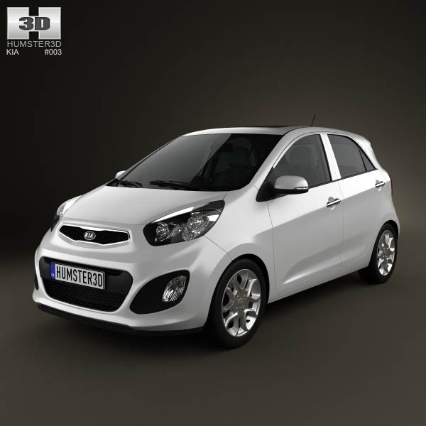 2011 Kia Soul >> Kia Picanto 2012 with HQ Interior 3D model for Download in various formats