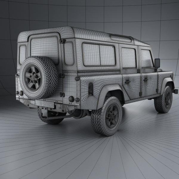 Land Rover Freelander 2 Lr2 3d Model: Land Rover Defender 110 Station Wagon 2011 3D Model For