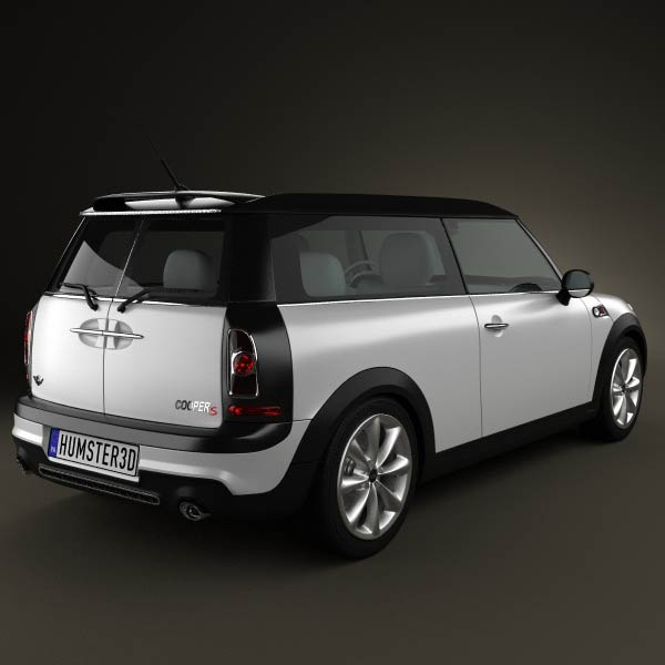mini cooper s clubman 2011 3d model for download in various formats. Black Bedroom Furniture Sets. Home Design Ideas