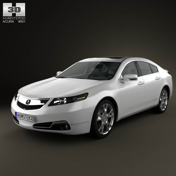 Acura TL 2012 3D Model For Download In Various Formats