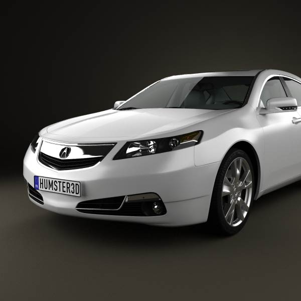 2013 Acura Rlx: Acura TL 2012 3D Model For Download In Various Formats