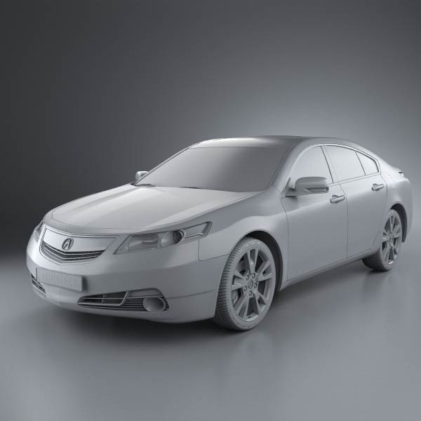 2005 Acura Tlx: Acura TL 2012 3D Model For Download In Various Formats
