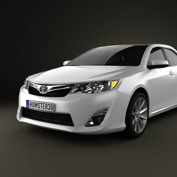 toyota camry 2012 us version 3d model for download in various formats. Black Bedroom Furniture Sets. Home Design Ideas