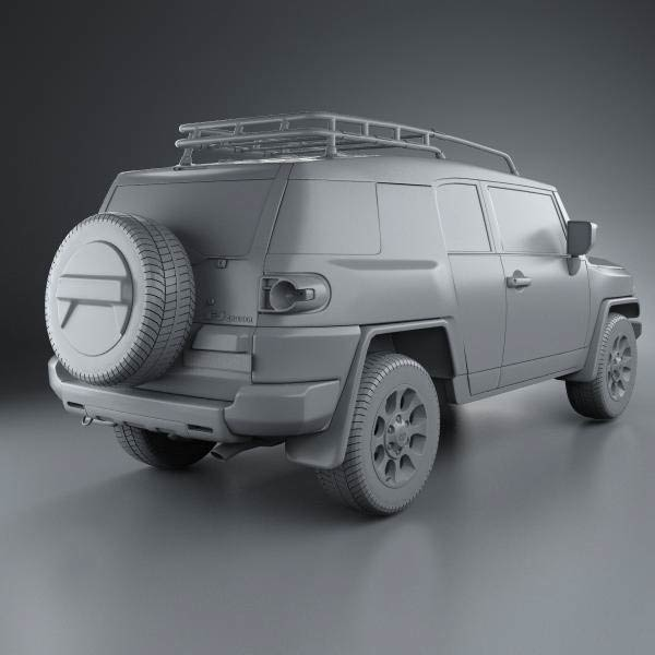 Toyota Fj Cruiser 2011 3d Model For Download In Various