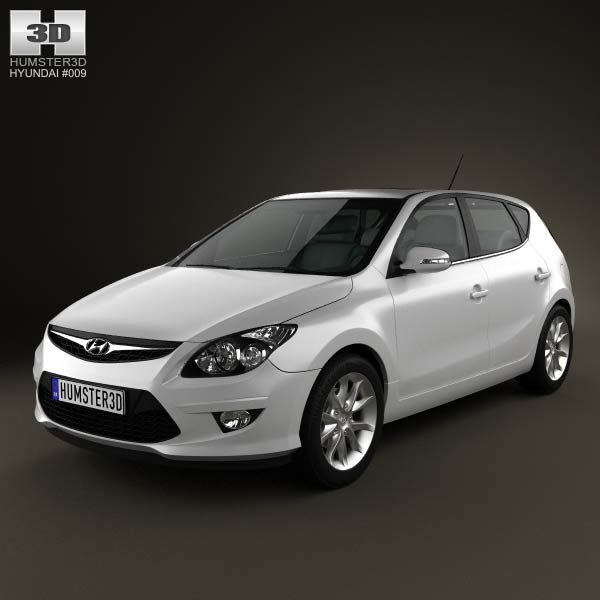 Hyundai I30 2011 3d Model For Download In Various Formats