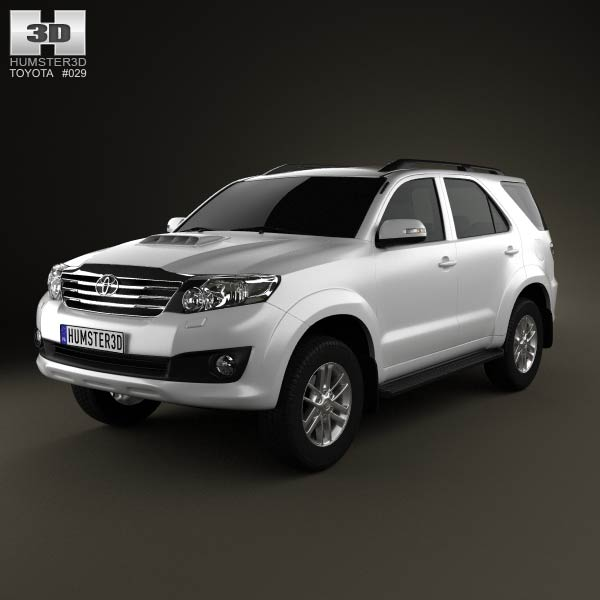 Toyota Fortuner 2012 3D model for Download in various formats