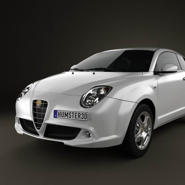 Alfa Romeo MiTo 2009 3D Model For Download In Various Formats