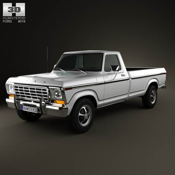 ford f150 1978 3d model for download in various formats. Black Bedroom Furniture Sets. Home Design Ideas