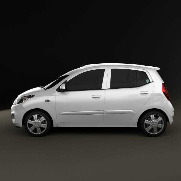 Hyundai I10 2011 3d Model For Download In Various Formats