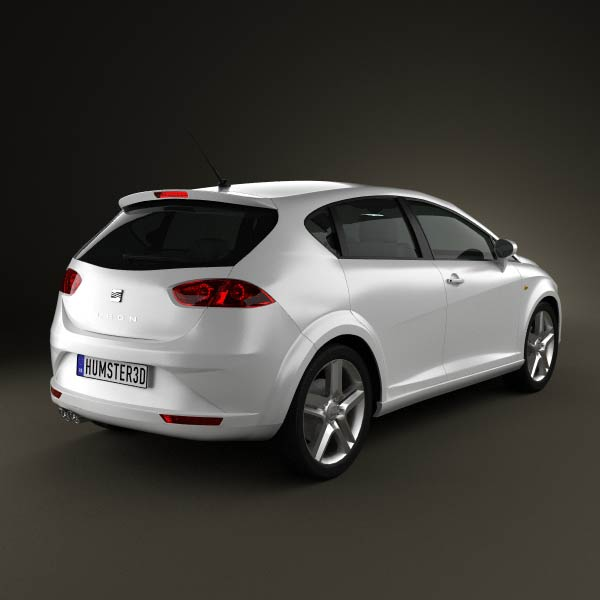 seat leon 2009 3d model for download in various formats. Black Bedroom Furniture Sets. Home Design Ideas
