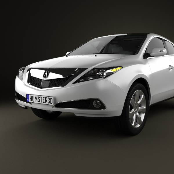 Acura ZDX 2012 3D Model For Download In Various Formats