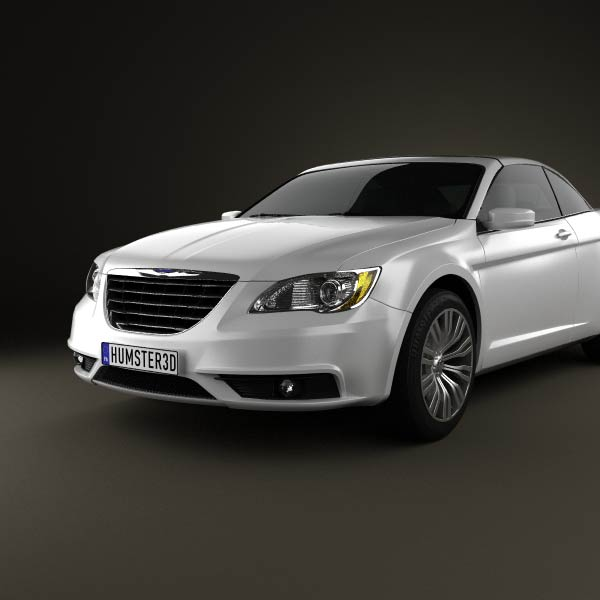 Chrysler 200 Convertible 2011 3D Model For Download In