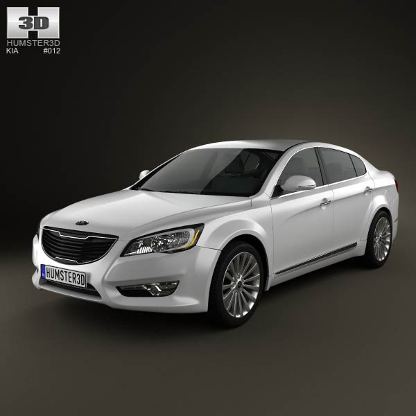 Kia Cadenza 2011 >> Kia Cadenza (K7) 2012 3D model for Download in various formats