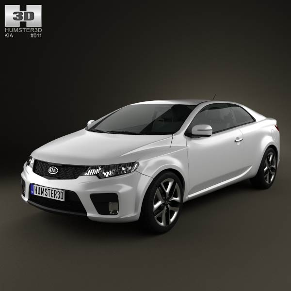 Kia Forte Cerato Naza Coupe 2012 3d Model For Download In Various Formats
