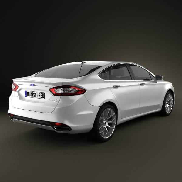 Ford Fusion Saloon Ford Fusion Mondeo 2013 3d