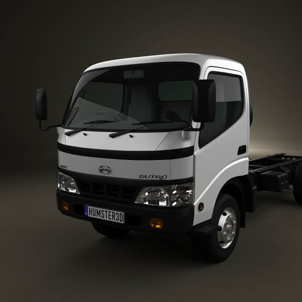 Hino 195 Hybrid Box Truck 2012 3d Model From Humster3d Com: Hino Dutro Standard Cab Chassis 2010 3D Model For Download