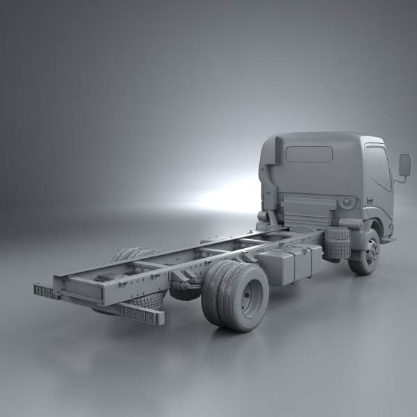 Hino Dutro Standard Cab Chassis 2010 3D model for Download