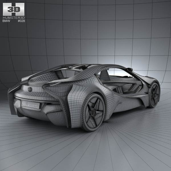 Bmw I8 Concept 2009 3d Model For Download In Various Formats