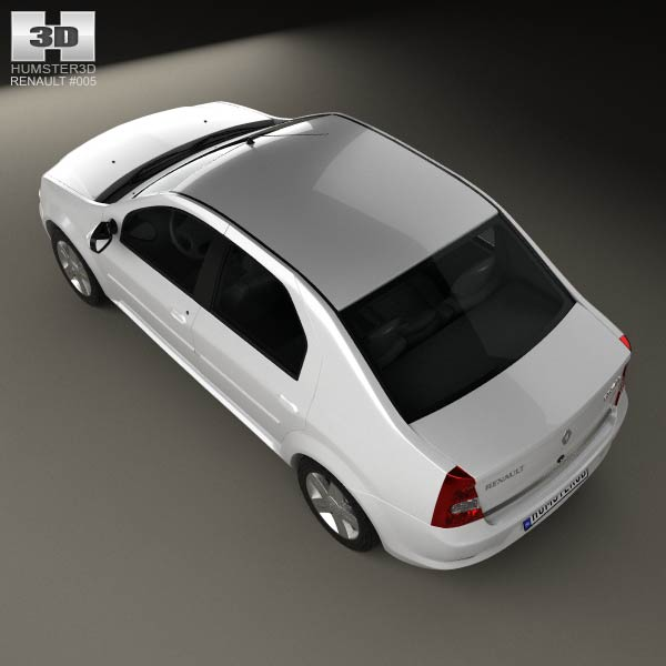 Renault Logan Sedan 2011 3d Model For Download In Various