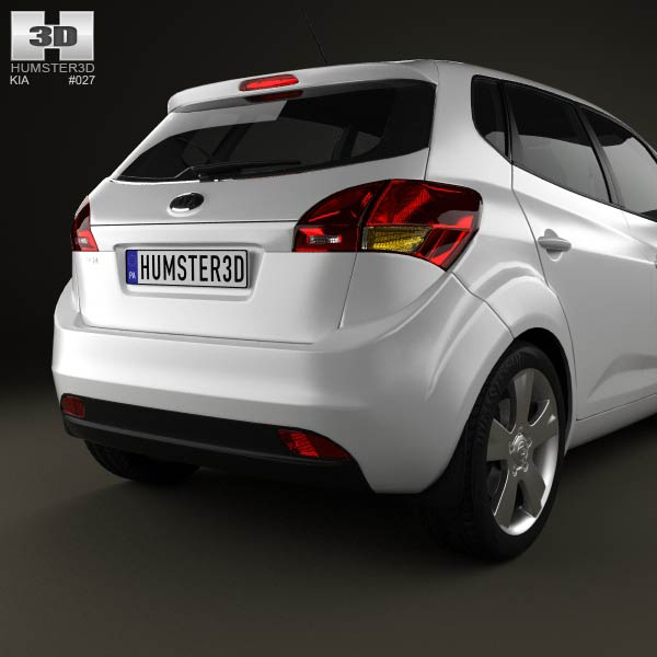 Kia Venga With Hq Interior 2011 3d Model For Download In
