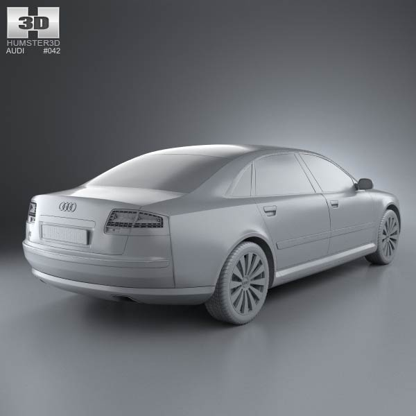Audi A8 2009 3D Model For Download In Various Formats