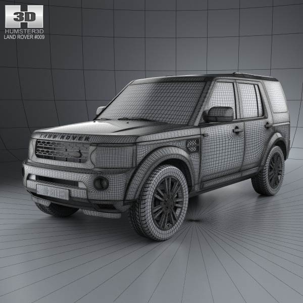 Land Rover Discovery 4 (LR4) 2012 3D Model For Download In