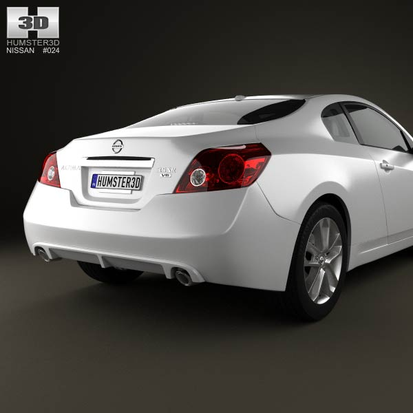 nissan altima coupe 2012 3d model for download in various. Black Bedroom Furniture Sets. Home Design Ideas