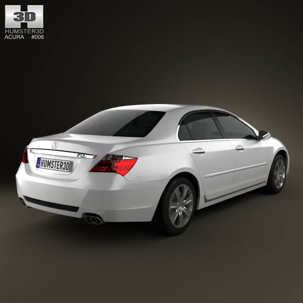 Acura RL 2012 3D Model For Download In Various Formats