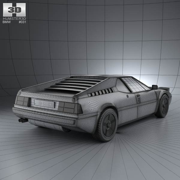 BMW M1 1978 3D model for Download in various formats