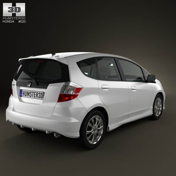 Honda Fit Jazz Sport 2012 3d Model For Download In