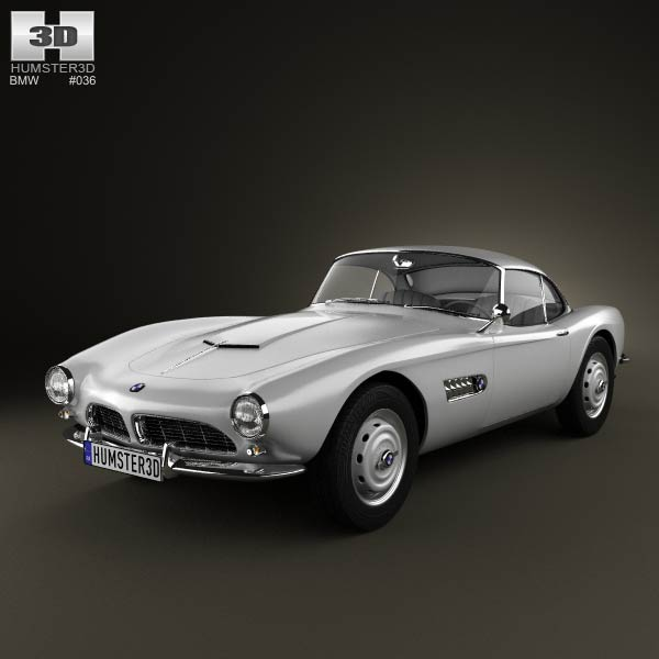 Bmw 507 Coupe 1959 3d Model For Download In Various Formats