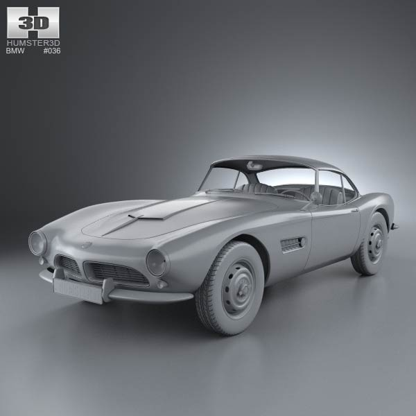 Bmw Zagato Roadster: BMW 507 Coupe 1959 3D Model For Download In Various Formats