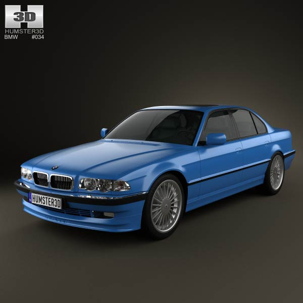 BMW 7 Series B12 Alpina 1999 3D Model For Download In