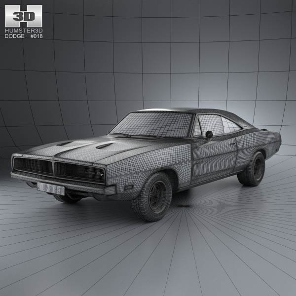 Dodge Charger Rt 1969 3d Model For Download In Various Formats